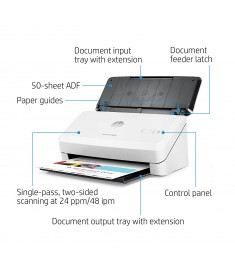 HP ScanJet Pro 2000 s2 Up to 24 ppm/48 ipm - 600dpi - USB - PC & Mac -
